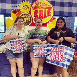 Shopping at Bath & Body Works