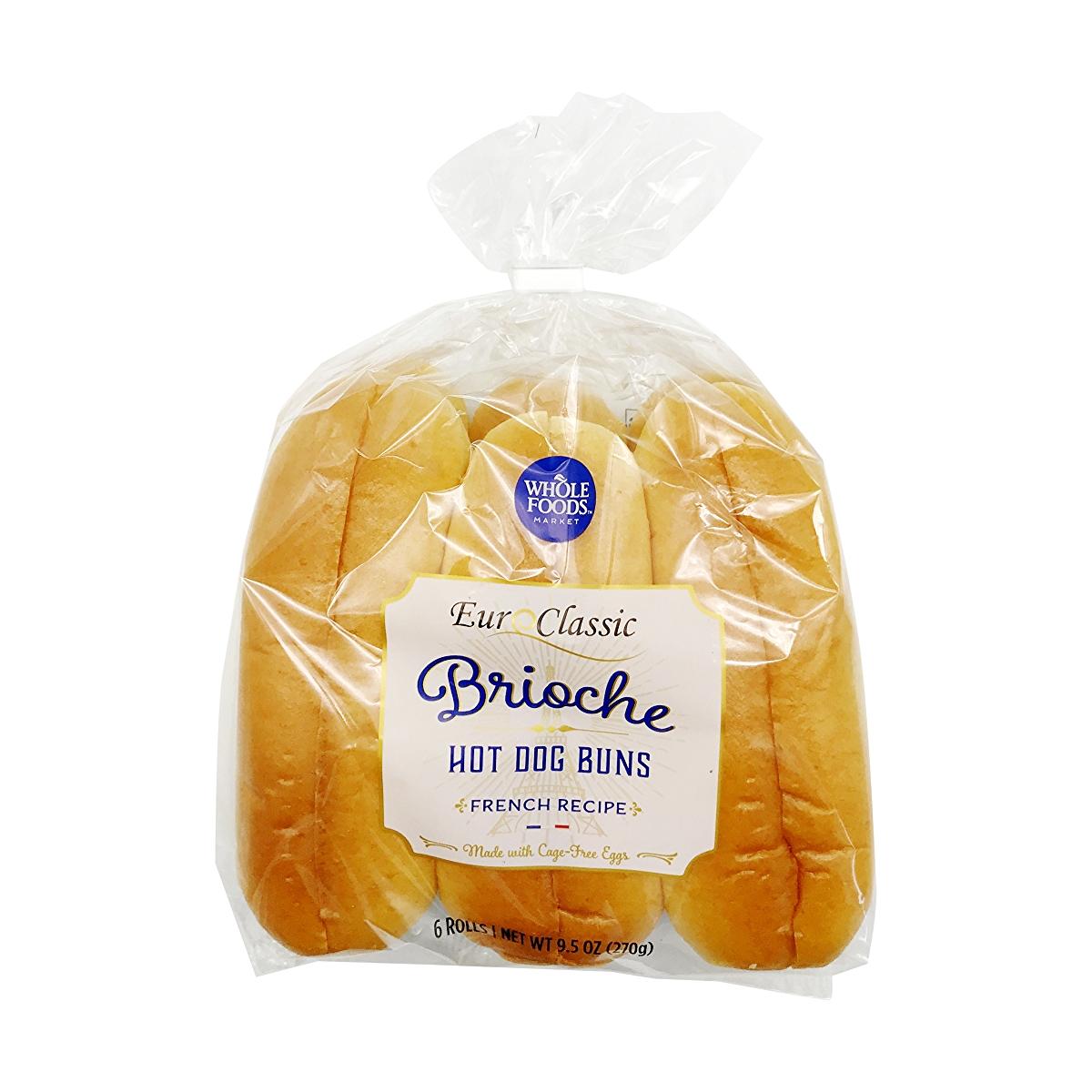 Brioche Hot Dog Buns 6 Count, 9.5 oz