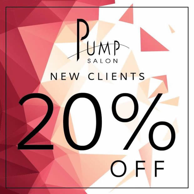 Pump Salon Rookwood Commons 20% Off For New Clients