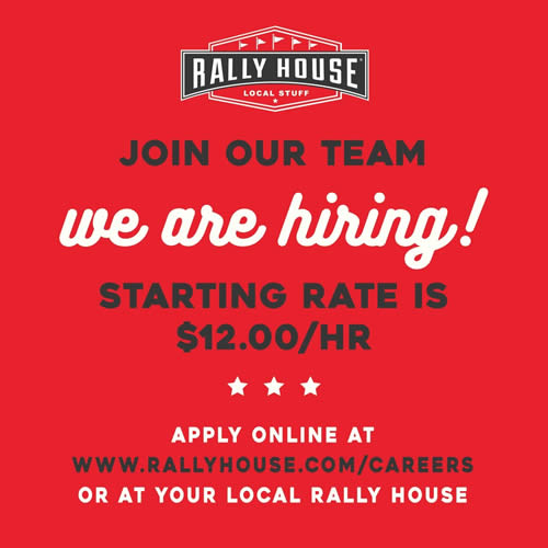 Rally House Now Hiring at Rookwood Commons & Pavilion